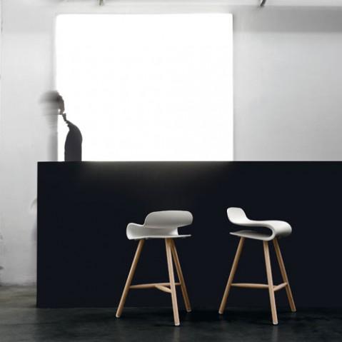 Bcn Bois Tabouret Design Kristalia Noir