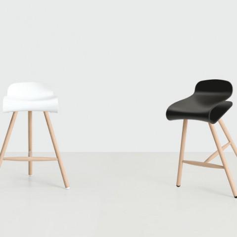 Bcn Bois Tabouret Design Kristalia Blanc