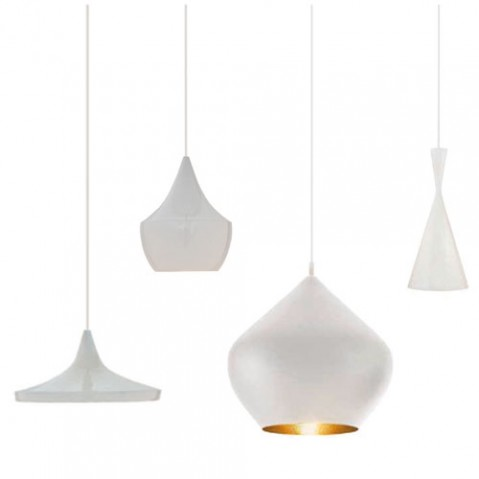 Beat Light Wide Tom Dixon suspension design blanc