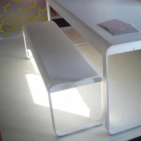 bellevie fermob banc design coquelicot