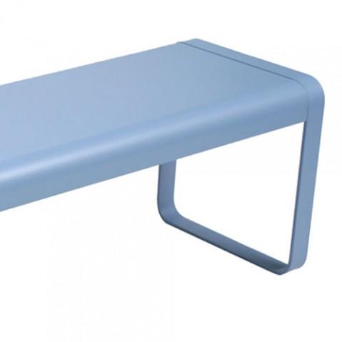 bellevie fermob banc design gris metal
