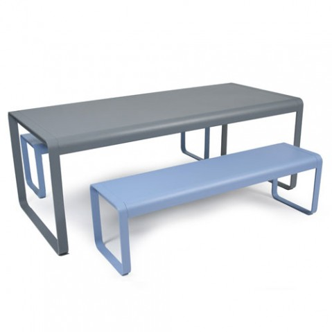 Bellevie fermob table gris metal