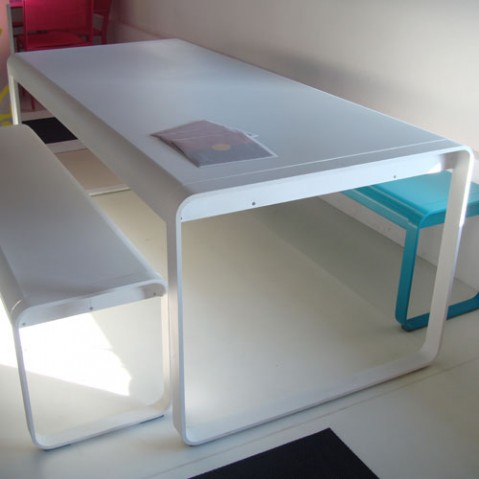 Bellevie fermob table design blanc