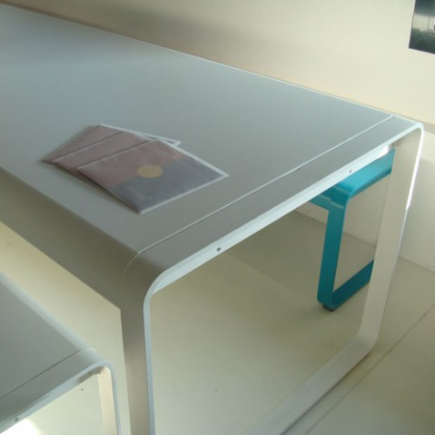 Bellevie table design fermob gris orage