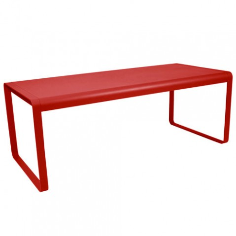 bellevie fermob table coquelicot