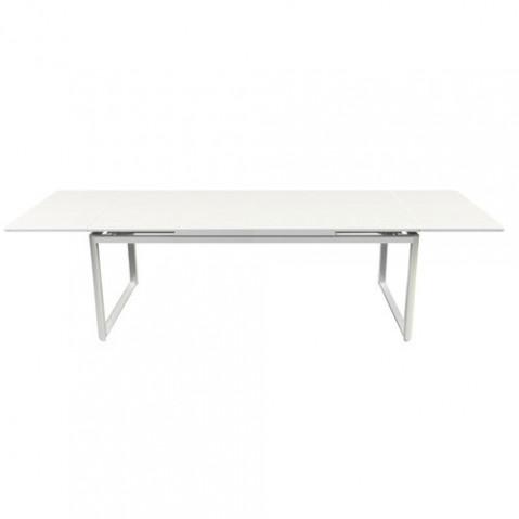 Biarritz Table A Allonge Design Fermob Blanc