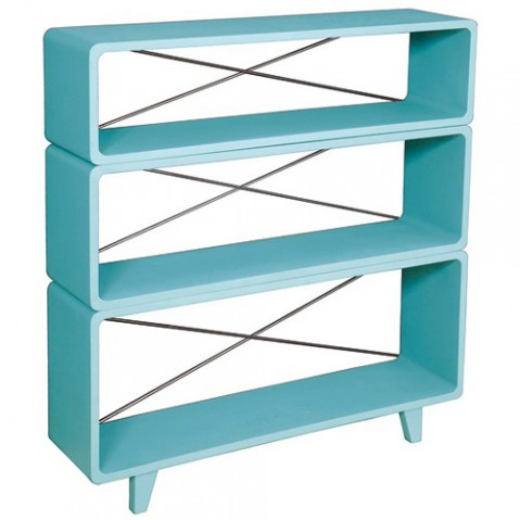 bibliotheque millefeuille laurette turquoise