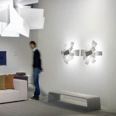 Big Bang Applique Murale Foscarini Blanc