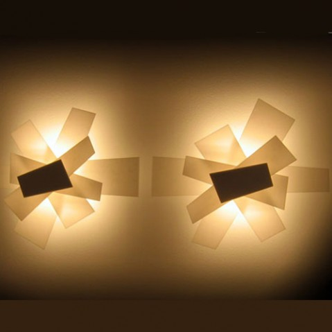 Big Bang Applique Murale Foscarini Rouge