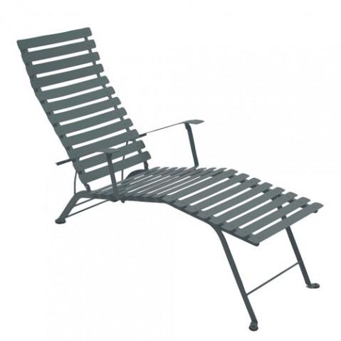 Bistro Chaise Longue Design Fermob Gris Orage