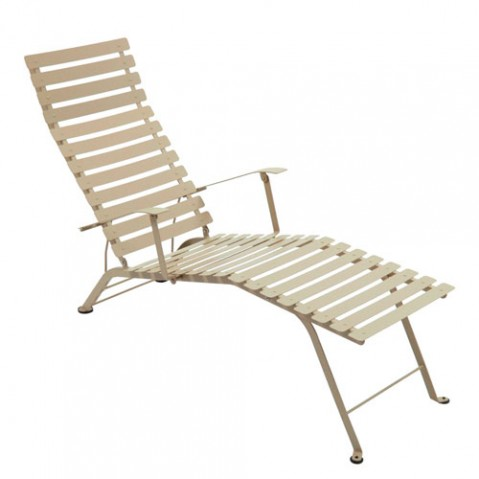 Bistro Chaise Longue Design Fermob Muscade