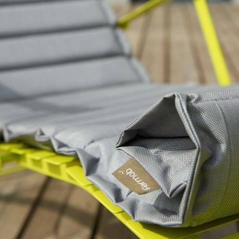 Bistro Coussin pour chaise longue design fermob gris