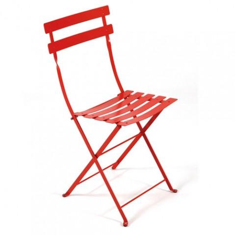 Bistro Lot de 2 Chaises Design Fermob Coquelicot