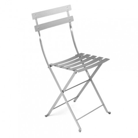 Bistro Lot de 2 Chaises Design Fermob Gris Metal