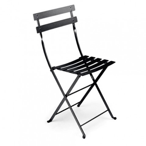 Bistro Lot de 2 Chaises Design Fermob Noir
