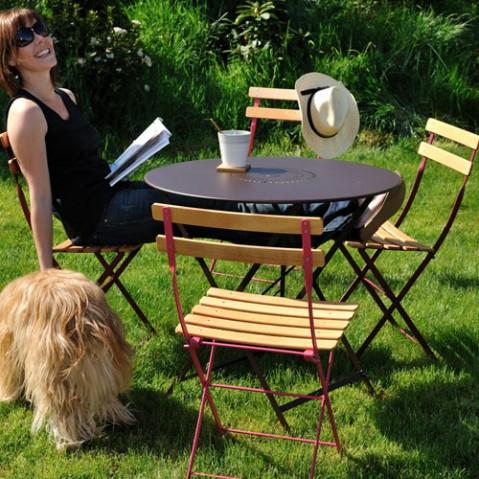 bistro naturel fermob pack de 2 chaises blanc