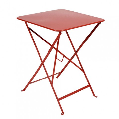 Bistro Table Carrée 57 Design Fermob Coquelicot