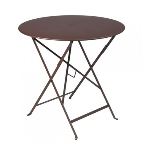 bistro fermob table ronde diametre 77 design rouille