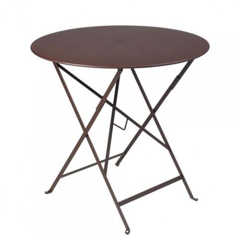 Table ronde pliante BISTRO de Fermob D.77 x H.74 cm Rouille