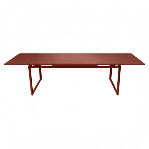 TABLE A ALLONGES BIARRITZ, Ocre rouge de FERMOB