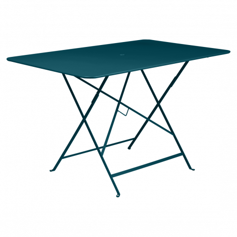 TABLE RECTANGULAIRE 117X77CM BISTRO, Bleu acapulco de FERMOB