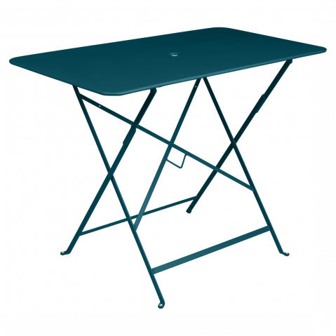 TABLE RECTANGULAIRE BISTRO 97X57CM, Bleu acapulco de FERMOB
