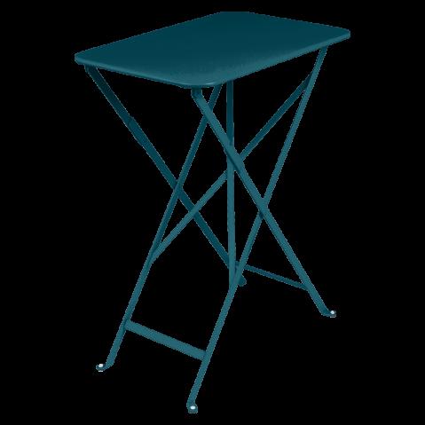 TABLE RECTANGULAIRE 37X57CM BISTRO, Bleu acapulco de FERMOB