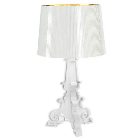 Bourgie Lampe à Poser Design Kartell Blanc Or