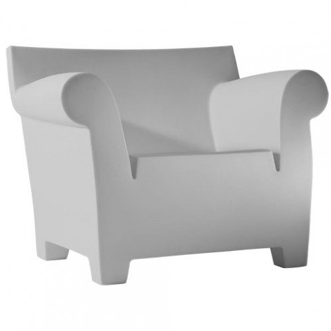 Bubble Club Kartell fauteuil design gris