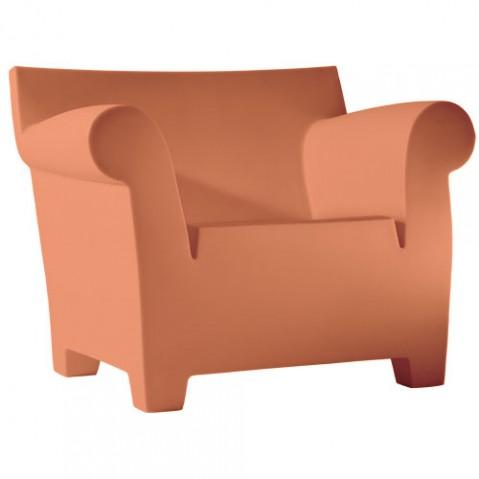 Bubble Club Kartell fauteuil design terre de sienne