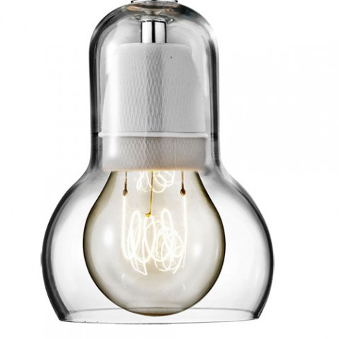 Bulb and tradition suspension design cordon transparent