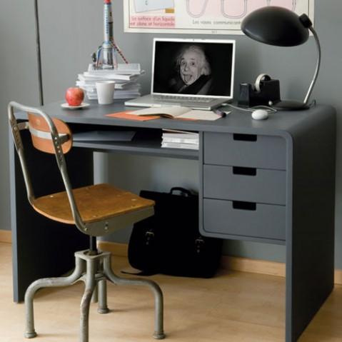 L65 Bureau Enfant Design Laurette VErt de Gris
