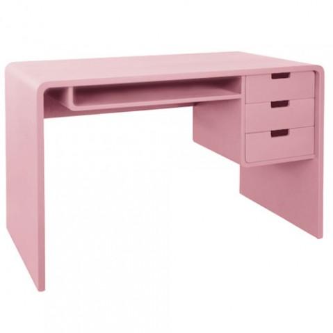 L65 Bureau Enfant Design Laurette Vieux Rose