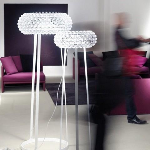 Caboche Grande Lampadaire Design Foscarini Transparent