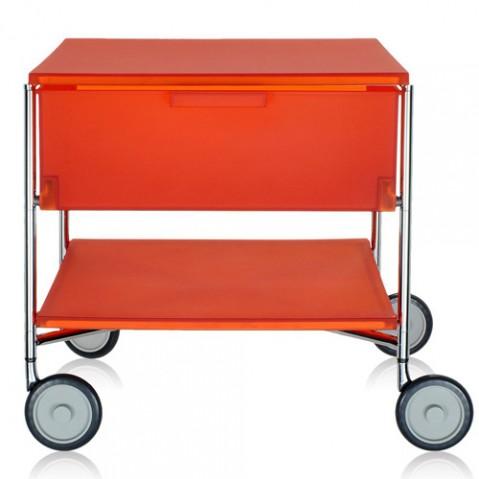 caisson roulettes mobil 1 tiroir kartell orange