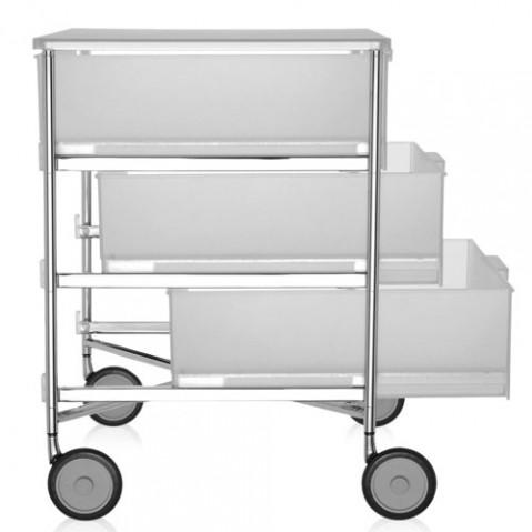 caisson rangement mobil 3 tiroirs kartell blanc