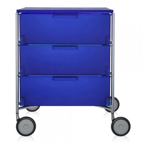 caisson rangement mobil 3 tiroirs kartell cobalt