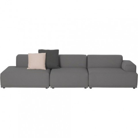 canape connect 3 modules muuto gris
