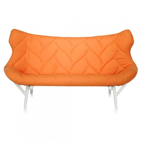 canape foliage blanc kartell orange