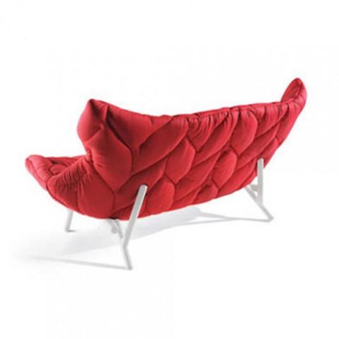 canape foliage 3 places pi tement blanc drap de laine rouge de kartell. Black Bedroom Furniture Sets. Home Design Ideas