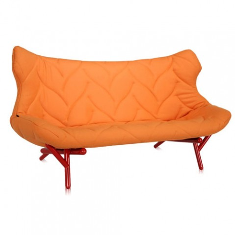 canape foliage rouge kartell orange