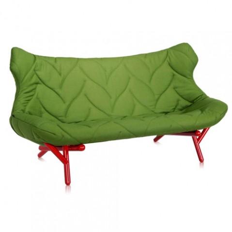 canape foliage rouge kartell vert