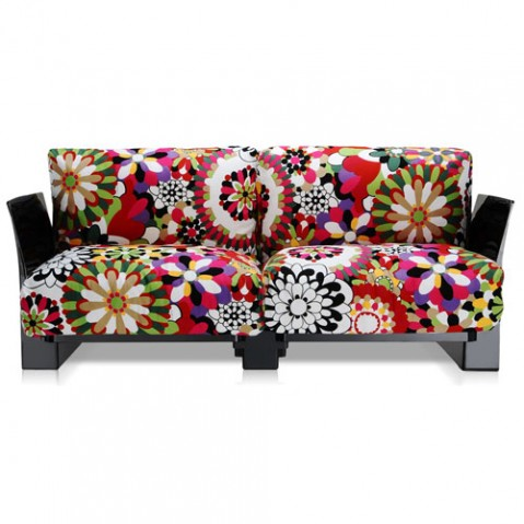 canape pop missoni 2 places kartell noir vevey rouge