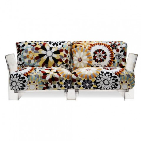 canape pop missoni 2 places kartell transparent vevey terre cuite