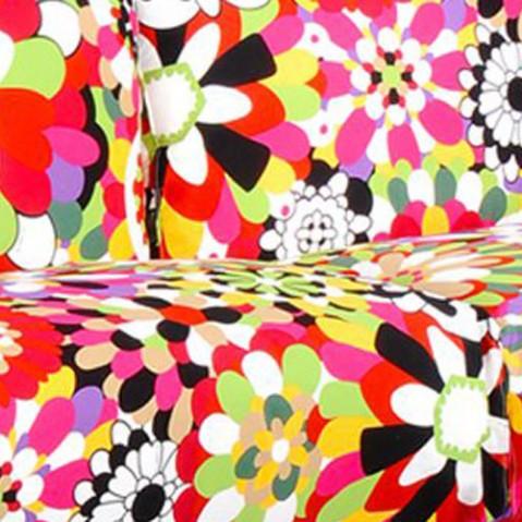 canape pop missoni 2 places kartell transparent vevey tons rouges
