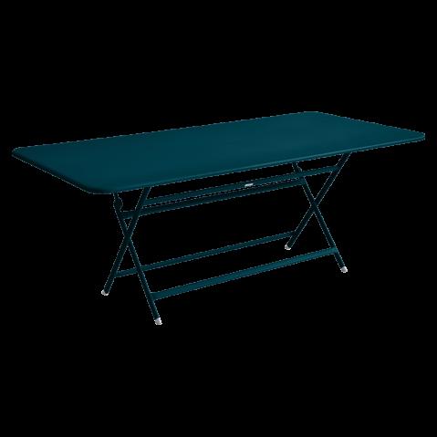 TABLE RECTANGULAIRE CARACTÈRE, Bleu acapulco de FERMOB