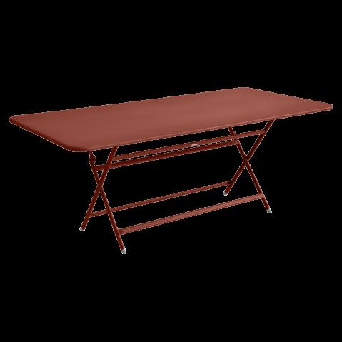 TABLE RECTANGULAIRE CARACTERE, Ocre rouge de FERMOB