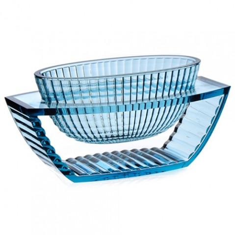 centre table u shine kartell bleu