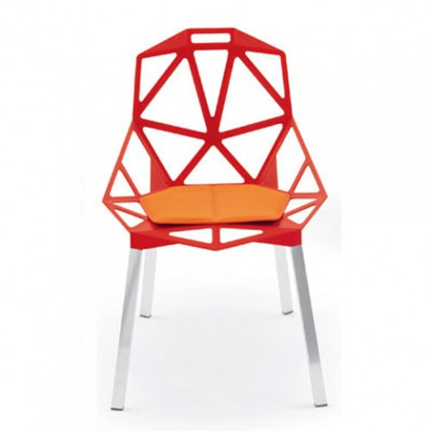 Chair One Coussin D'assise Design Magis orange