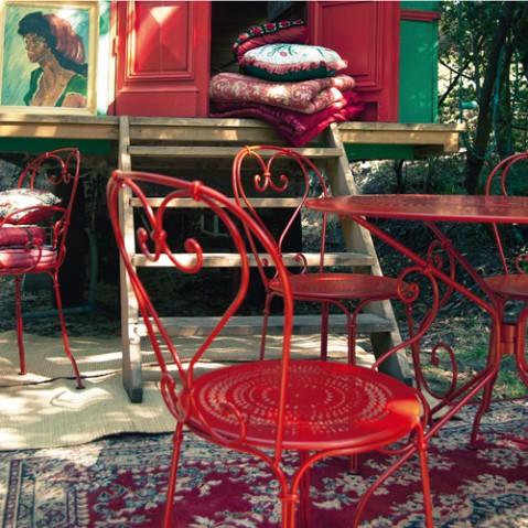 chaise 1900 fermob aubergine